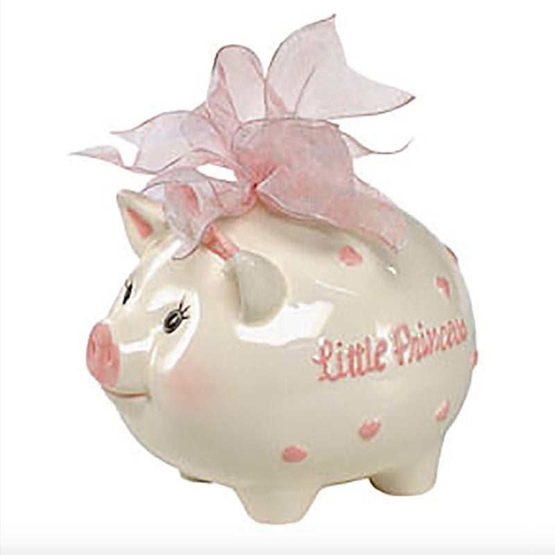 Mud Pie Little Princess Piggy Bank - Round Gift Box