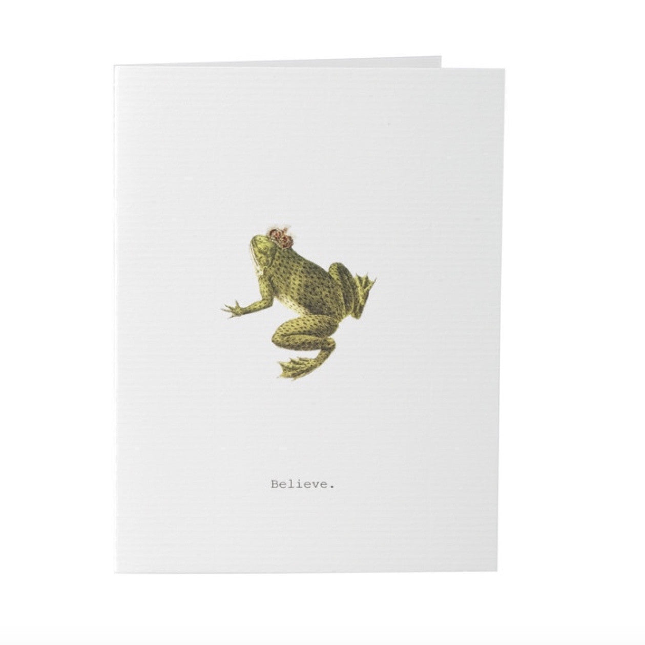 "Tokyo Milk ""Believe"" Frog with Crown Card -  Stationary - Tokyo Milk - Putti Fine Furnishings Toronto Canada"