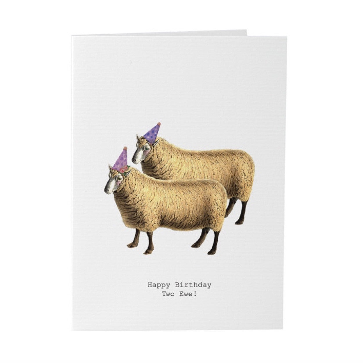 "Tokyo Milk ""Happy Bithday to Ewe"" Sheep with Party Hats Card, TM-Tokyo Milk, Putti Fine Furnishings"