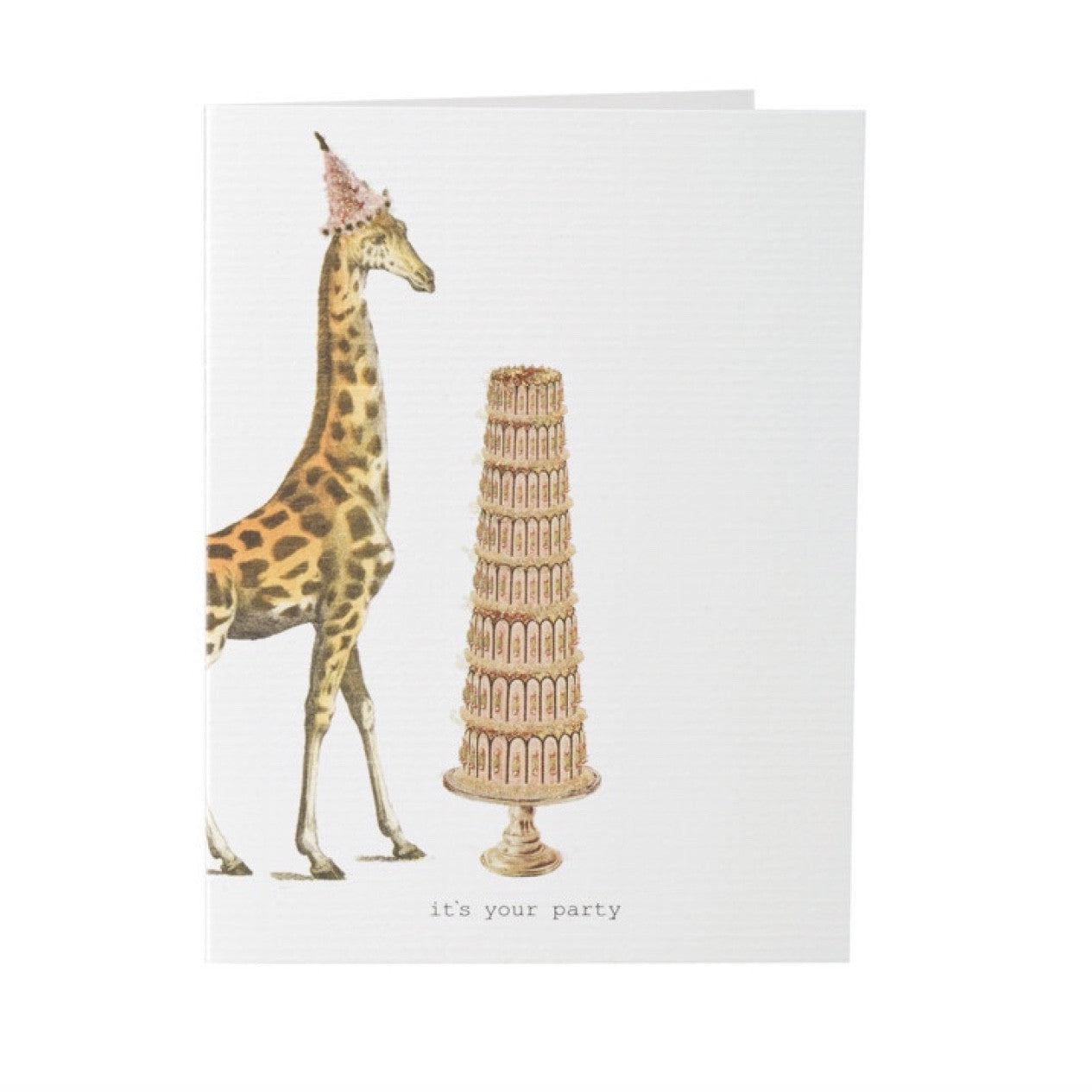 "Tokyo Milk ""It's your party"" Giraffe and Cake Card, TM-Tokyo Milk, Putti Fine Furnishings"