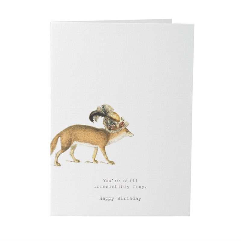 "Tokyo Milk ""You're still Irresistibly foxy"" Happy Birthday Card -  Stationary - Tokyo Milk - Putti Fine Furnishings Toronto Canada"