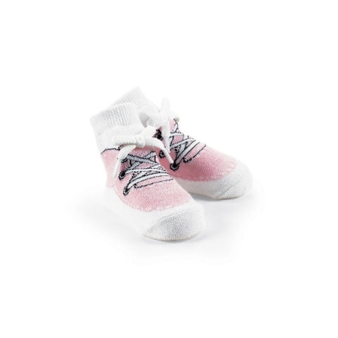 Mud Pie Pink High Top Sneaker Socks -  Children's Clothing - Mud Pie - Putti Fine Furnishings Toronto Canada