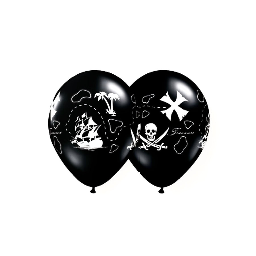 Black & White Pirate's Treasure Balloons