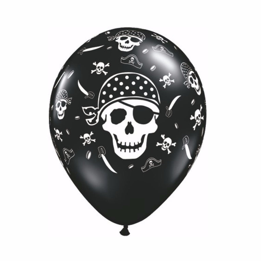 Black & White Skull and Cross Bone Balloons