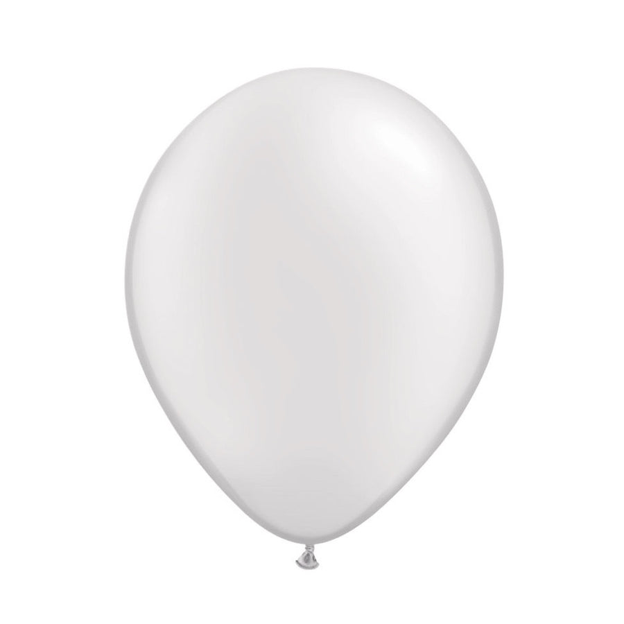 Pearlized White Opaque Balloons