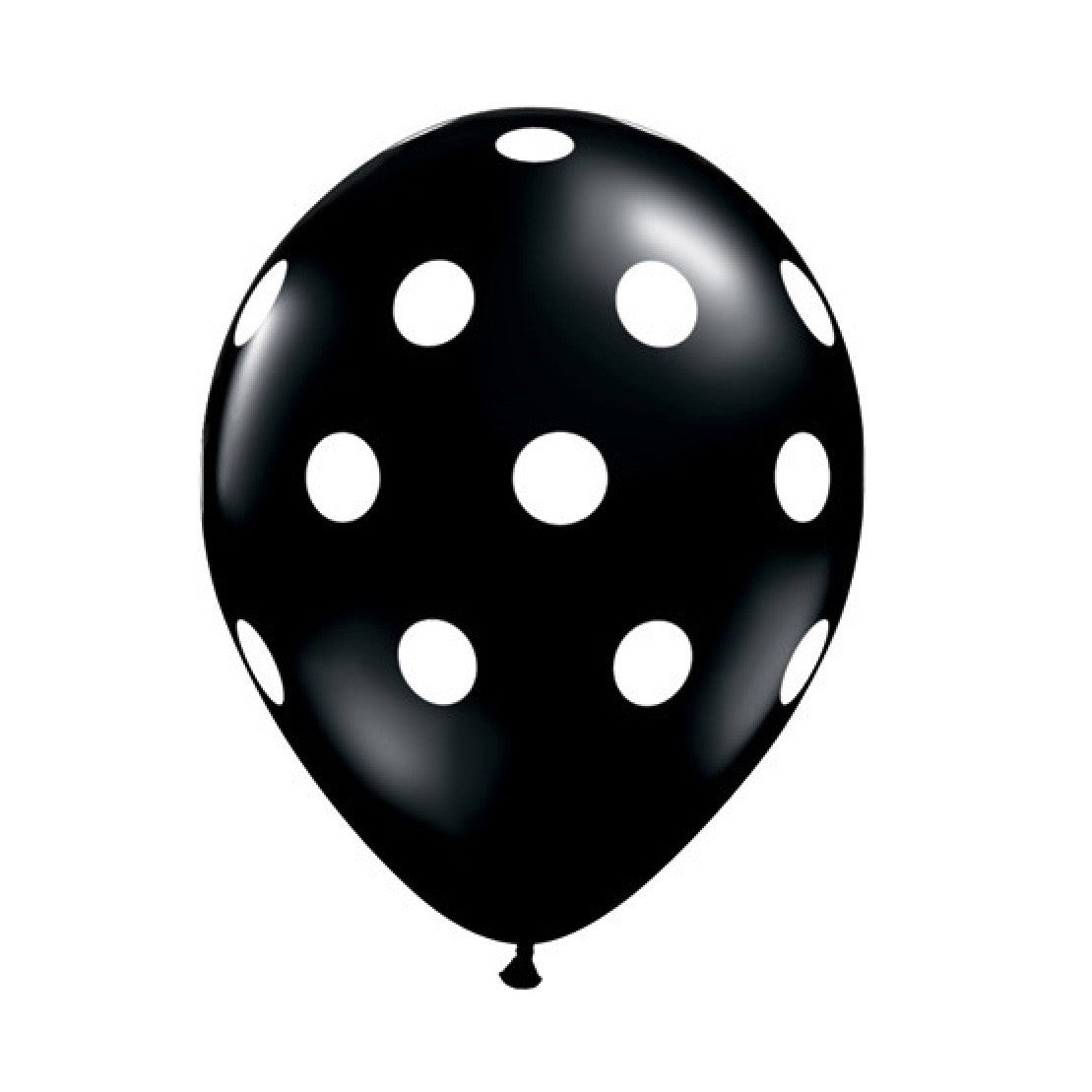 Big Polka Dots Opaque Balloons - Onyx Black