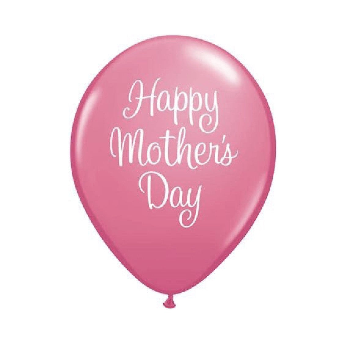 """Happy Mother's Day"" Script Balloon - Pink"