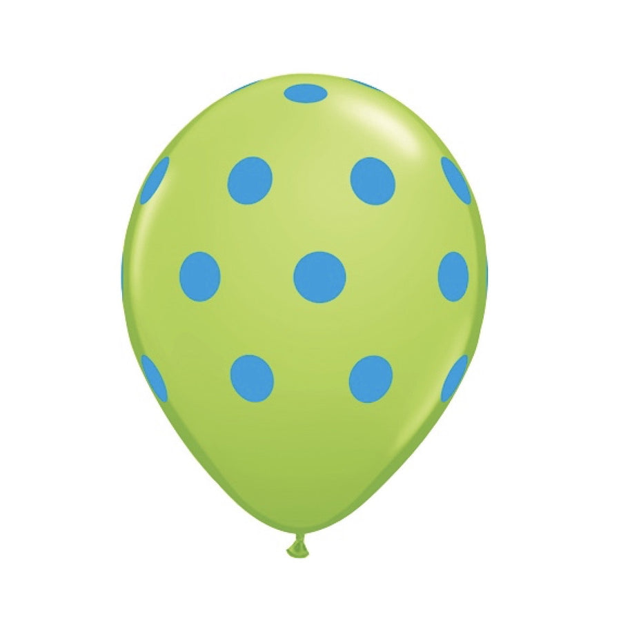 Big Polka Dots Colorful Balloons - Green & Turquoise