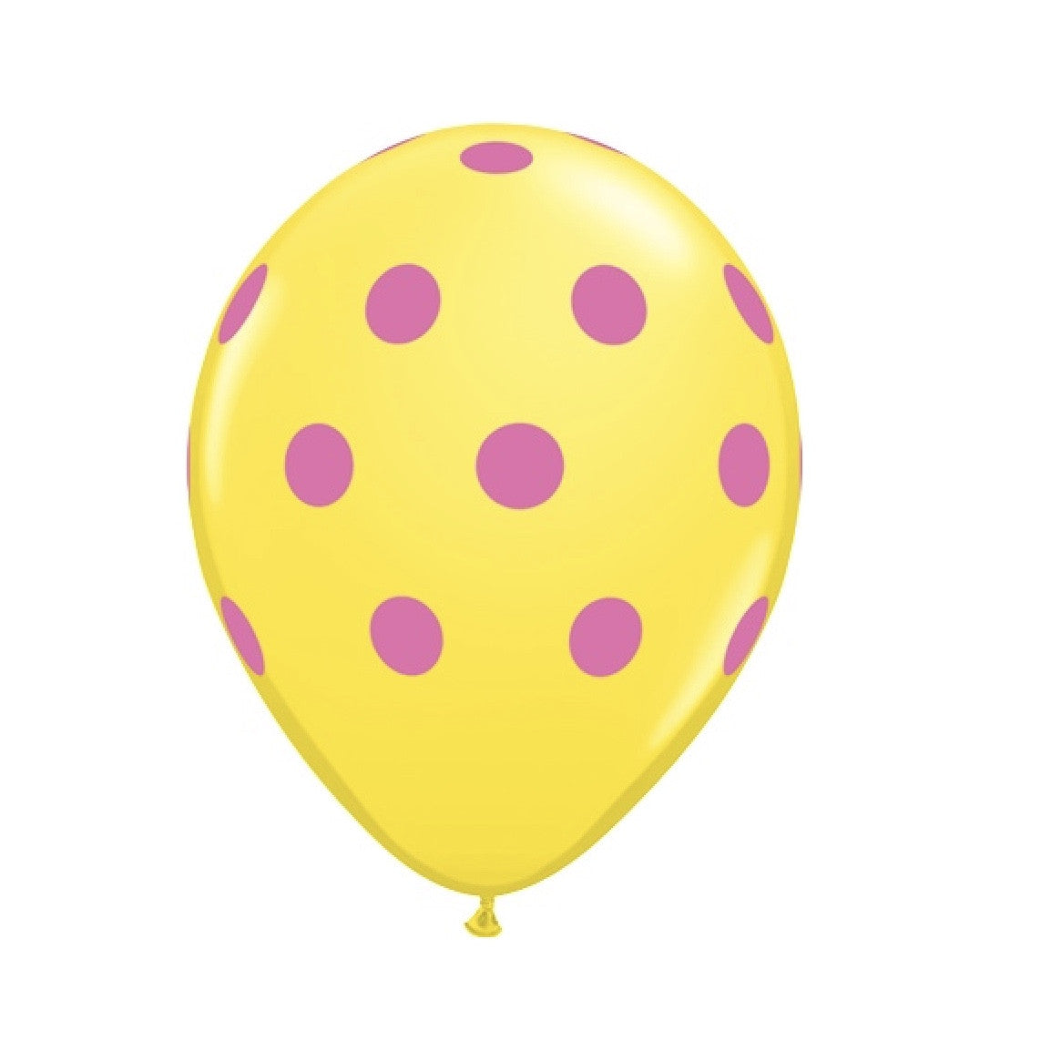 Big Polka Dots Colorful Balloons - Yellow & Hot Pink, Surprize Enterprize, Putti Fine Furnishings