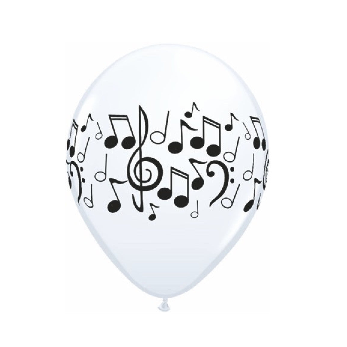 Musical Notes Balloons - Black & White, Surprize Enterprize, Putti Fine Furnishings