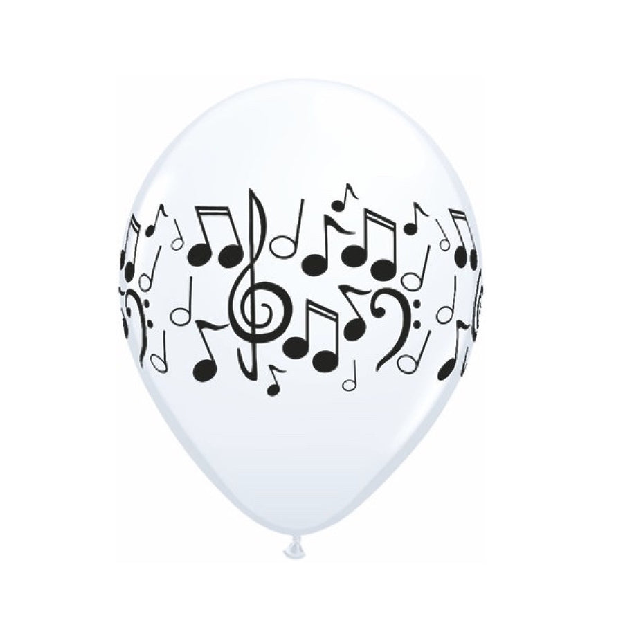 Musical Notes Balloons - Black & White