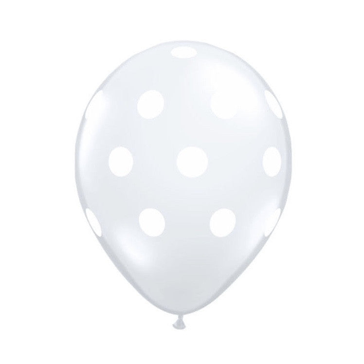 Big Dot Diamond Clear Transparent Balloons