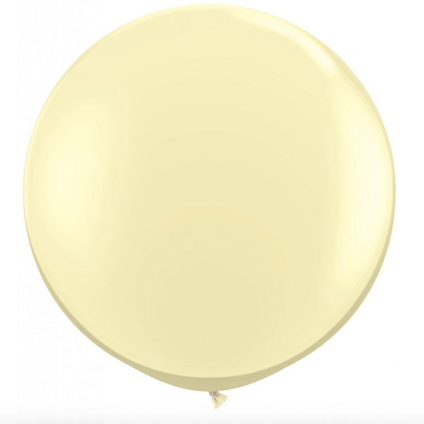 "Giant Round Balloon 30""- Pearlized Pastel Ivory -  Party Supplies - Surprize Enterprize - Putti Fine Furnishings Toronto Canada"