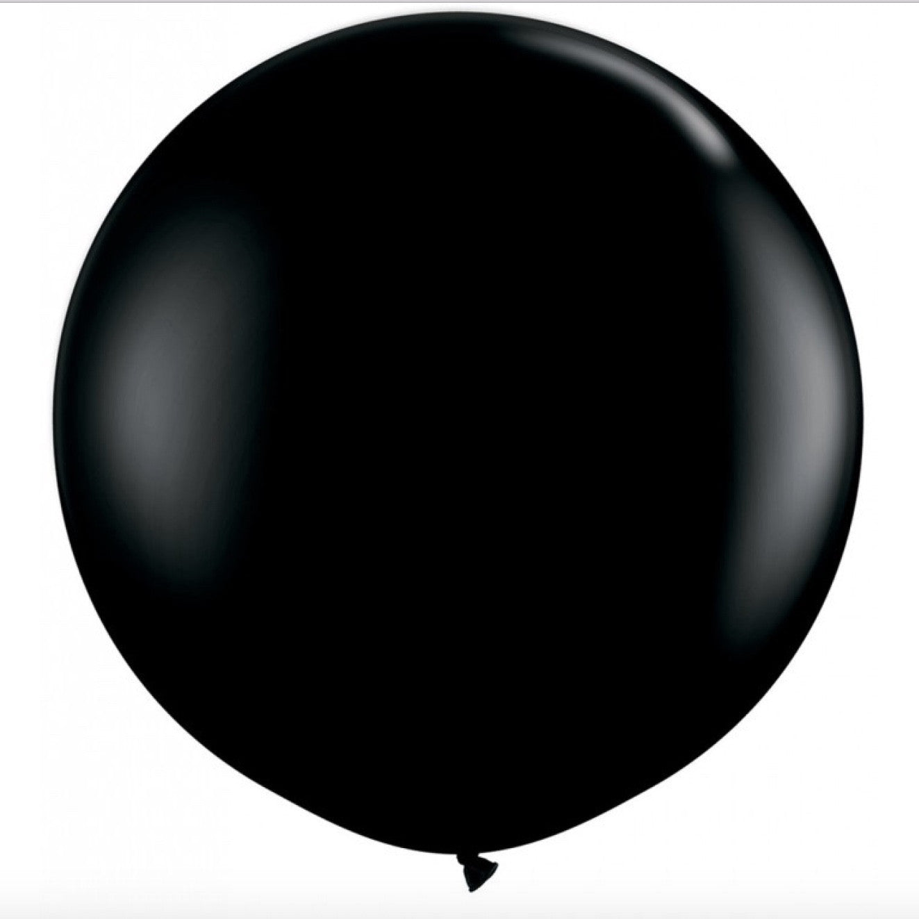 "Giant Round Balloon 36""- Onyx Black"