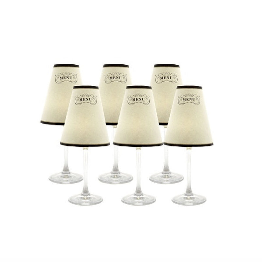 "I Potter ""Paris Menu"" Translucent Wine Glass Shades, Board and Batten, Putti Fine Furnishings"