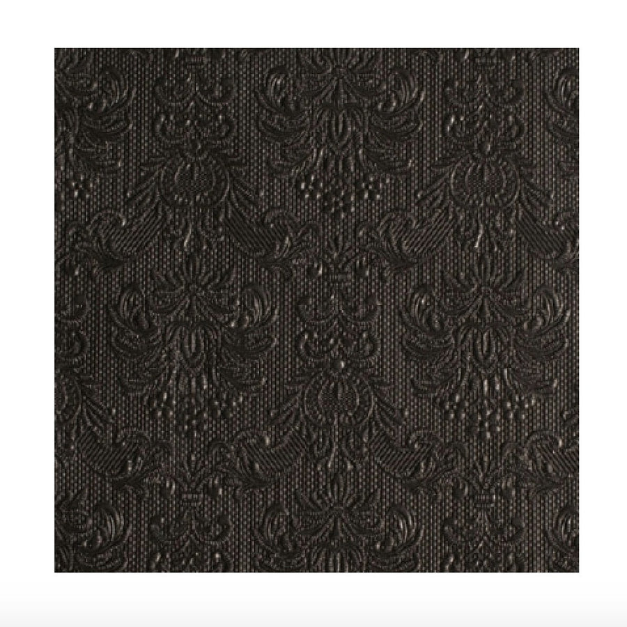 Elegance Black Embossed Paper Luncheon Napkin, Putti Fine Furnishings, Putti Fine Furnishings