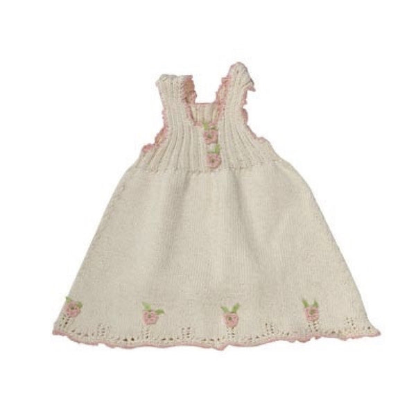 Organic Cotton Hand Knit Rose Sleeveless Top-Children's Clothing-Empress Arts-2T (Special Order 1 week)-Putti Fine Furnishings