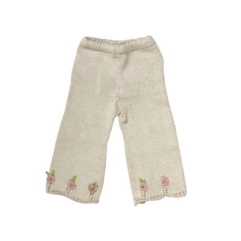 Organic Cotton Hand Knit Rose Pants-Children's Clothing-Empress Arts-3T-Putti Fine Furnishings
