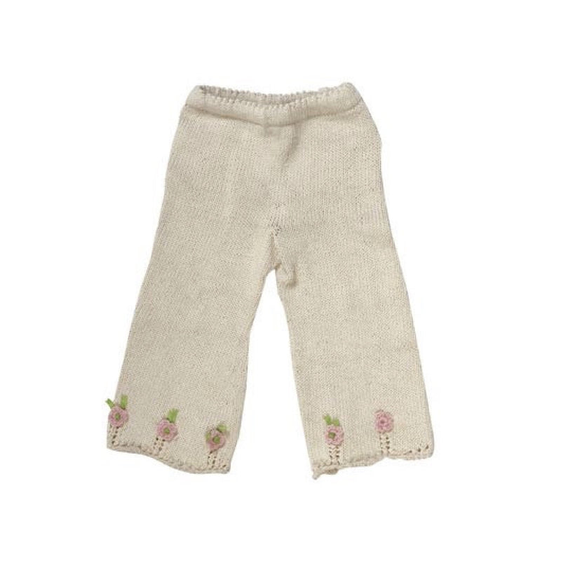 Organic Cotton Hand Knit Rose Pants