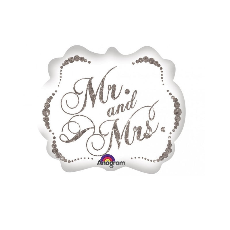 """Mr & Mrs"" Sparking Mylar Balloon"