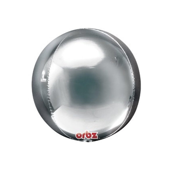 Metallic Silver Mylar Orbz Balloons-Party Supplies-Surprize Enterprize-Putti Fine Furnishings