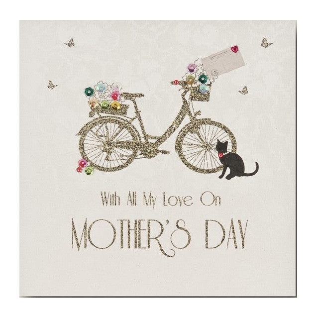 """With all My Love on Mothers Day"" Bicycle Card, PEC-Paper E Clips, Putti Fine Furnishings"