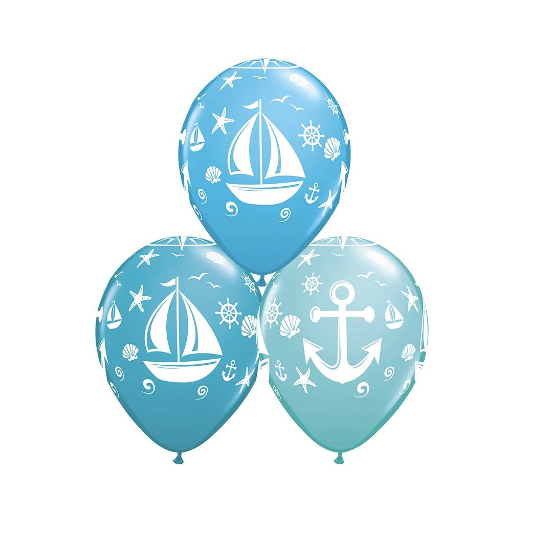 """Sailboat & Anchor"" Balloons, Surprize Enterprize, Putti Fine Furnishings"