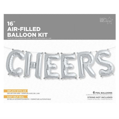 "Silver Foil ""Cheers"" Balloon Banner, Northstar Balloons, Putti Fine Furnishings"