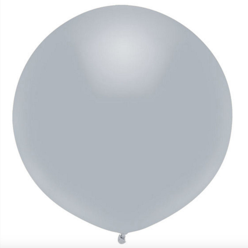 "Round Outdoor Balloon 17""- Shining Platinum, SE-Surprize Enterprize, Putti Fine Furnishings"