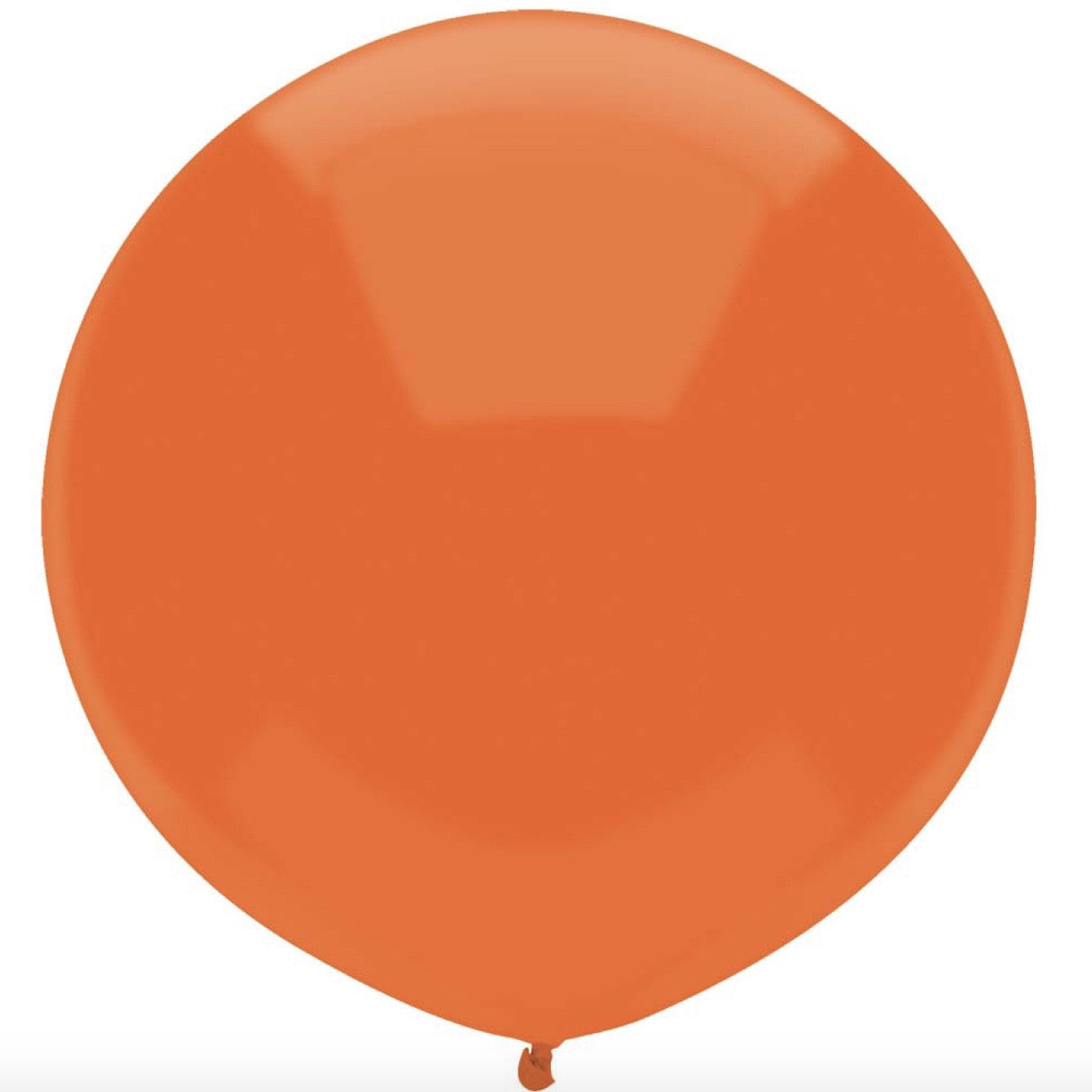 "Round Outdoor Balloon 17""- Bright Orange"