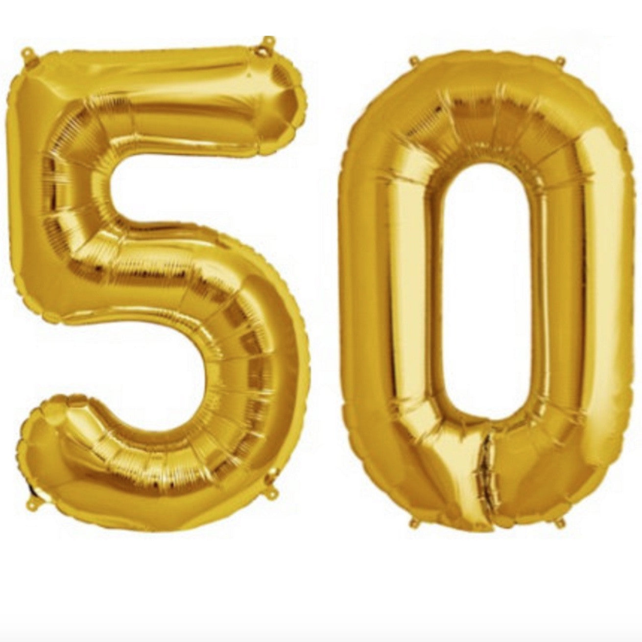 Gold Foil Number Balloon - Fifty, SE-Surprize Enterprize, Putti Fine Furnishings
