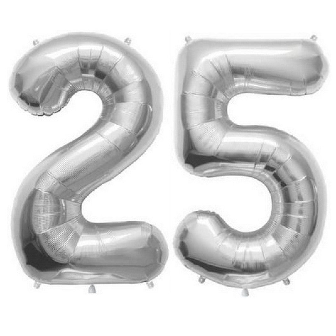 Silver Foil Number Balloon - Twenty Five, SE-Surprize Enterprize, Putti Fine Furnishings