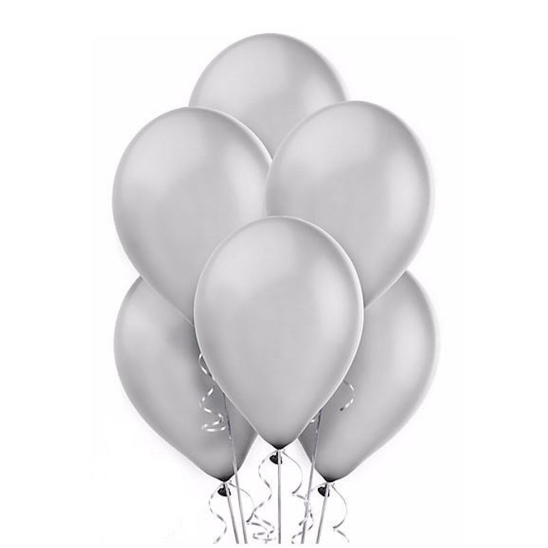 Metallic Silver Opaque Balloons, Surprize Enterprize, Putti Fine Furnishings