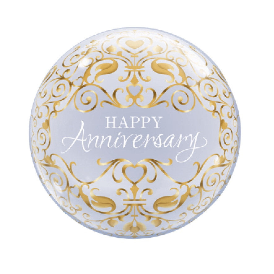 """Happy Anniversary"" Gold Classic Bubble Balloon, SE-Surprize Enterprize, Putti Fine Furnishings"