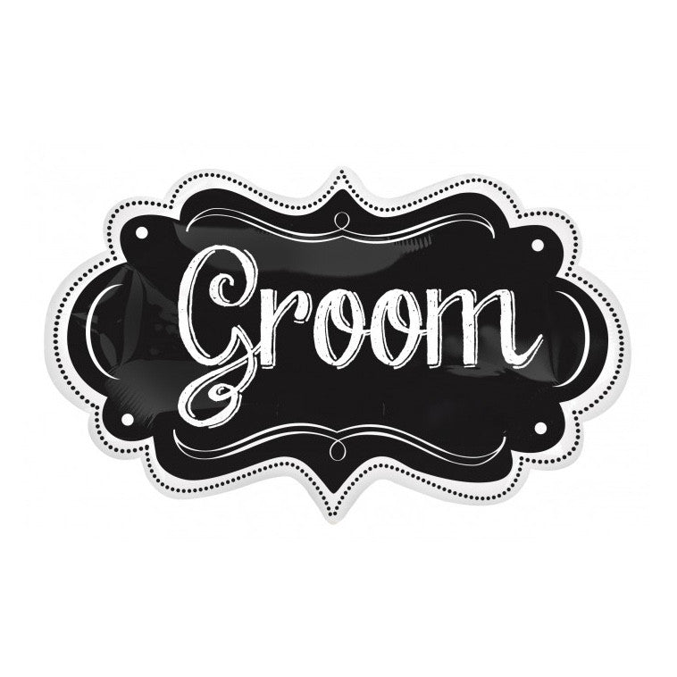 """Groom"" Marquee Foil Balloon, SE-Surprize Enterprize, Putti Fine Furnishings"