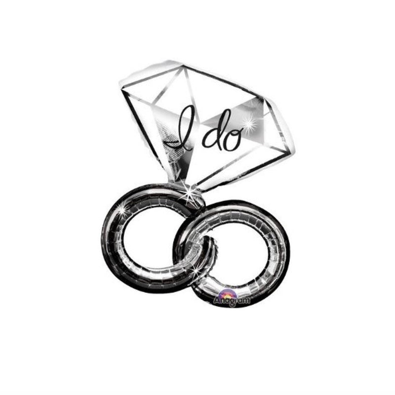 """I do"" Foil Ring Balloon, SE-Surprize Enterprize, Putti Fine Furnishings"