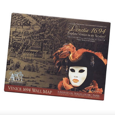 Authentic Venice Map Portfolio, Authentic Models, Putti Fine Furnishings