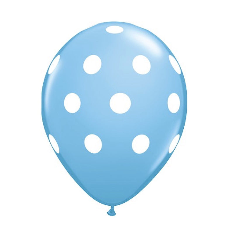 Big Polka Dots Balloons - Blue with White Dots, Surprize Enterprize, Putti Fine Furnishings