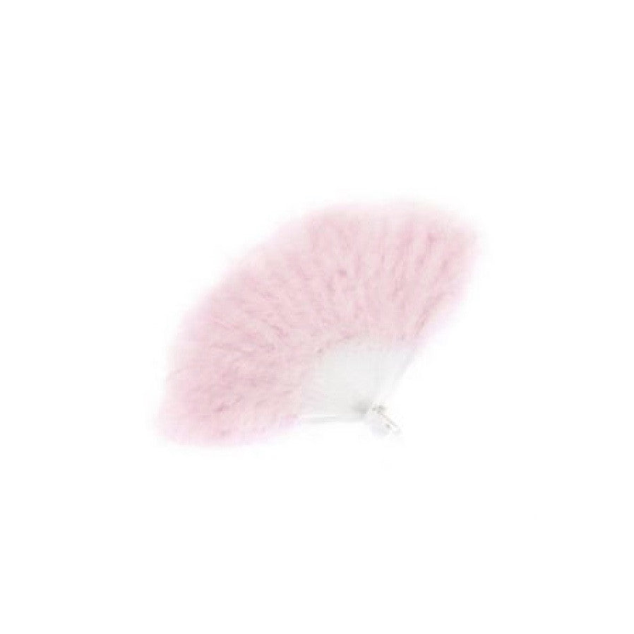 Foldable Pink Feather Fan, Creative Education, Putti Fine Furnishings