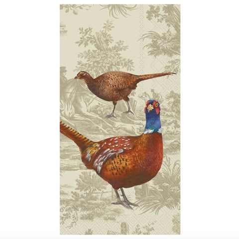 Pheasant Scene - Buffet Guest Paper Napkin -  Party Supplies - Carsim Trading - Putti Fine Furnishings Toronto Canada