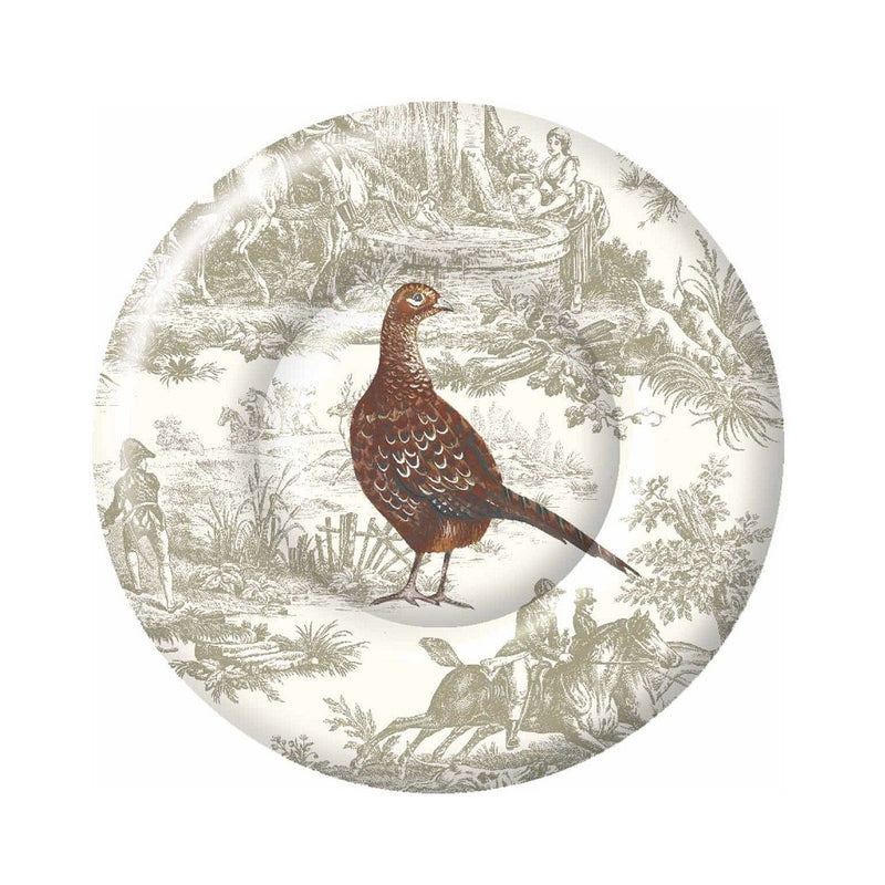 Pheasant Scene - Paper Lunch Plate, Carsim Trading, Putti Fine Furnishings