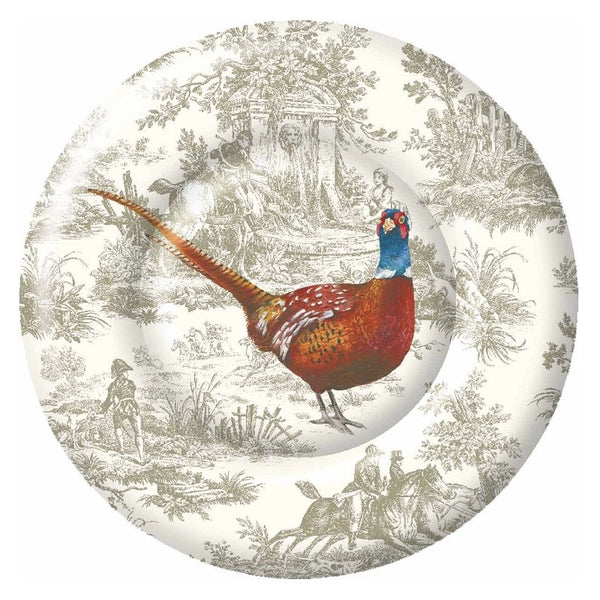 Pheasant Scene - Paper Dinner Plate -  Party Supplies - Carsim Trading - Putti Fine Furnishings Toronto Canada