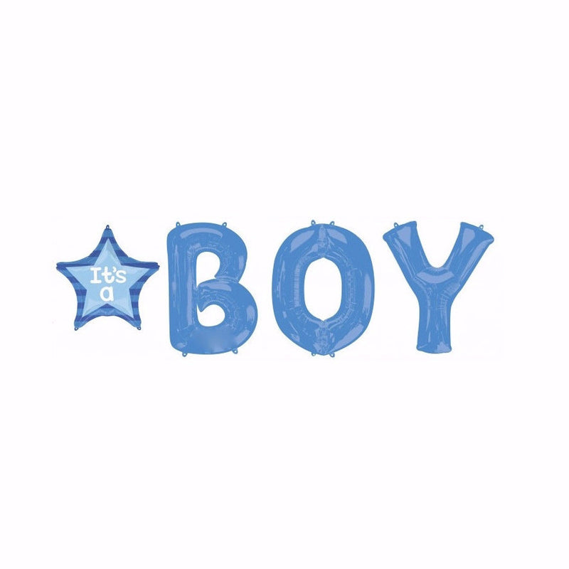 """It's a Boy"" Blue Mylar Letter Bunch"