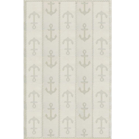Mad Mats Outdoor Carpet Anchor - 6' x 9' / Blue and White Outdoor Carpets - Mad Mats - Putti Fine Furnishings Toronto Canada - 1