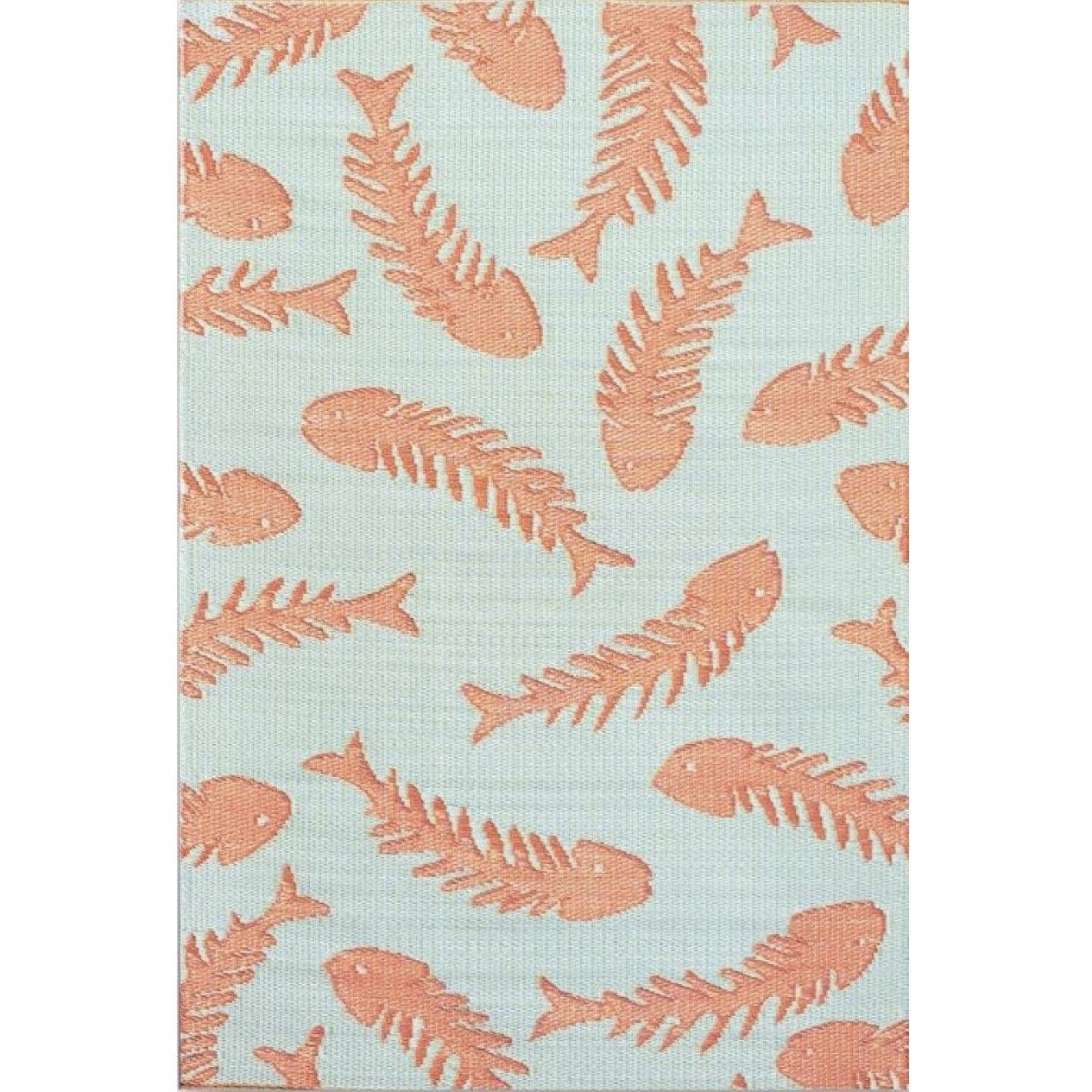 Mad Mats Salmon Outdoor Carpet Rug Aqua Salmon - Putti Fine Furnishings Canada