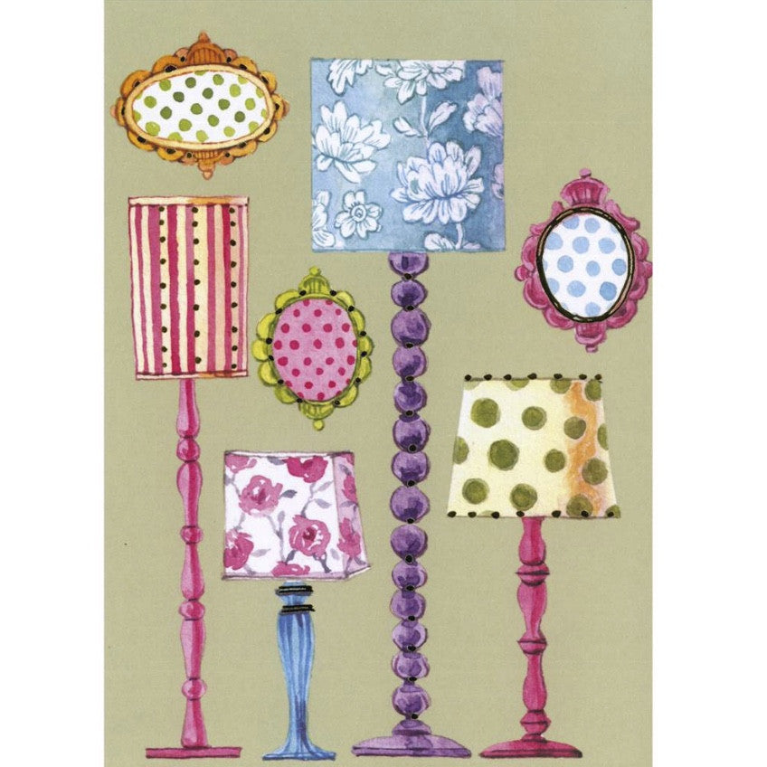 Standing Lamps Greeting Card