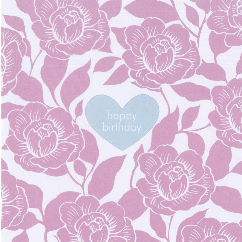 "Pink Roses ""Happy Birthday"" Die Cut Card -  Stationary - Jannex Enterprises - Putti Fine Furnishings Toronto Canada"
