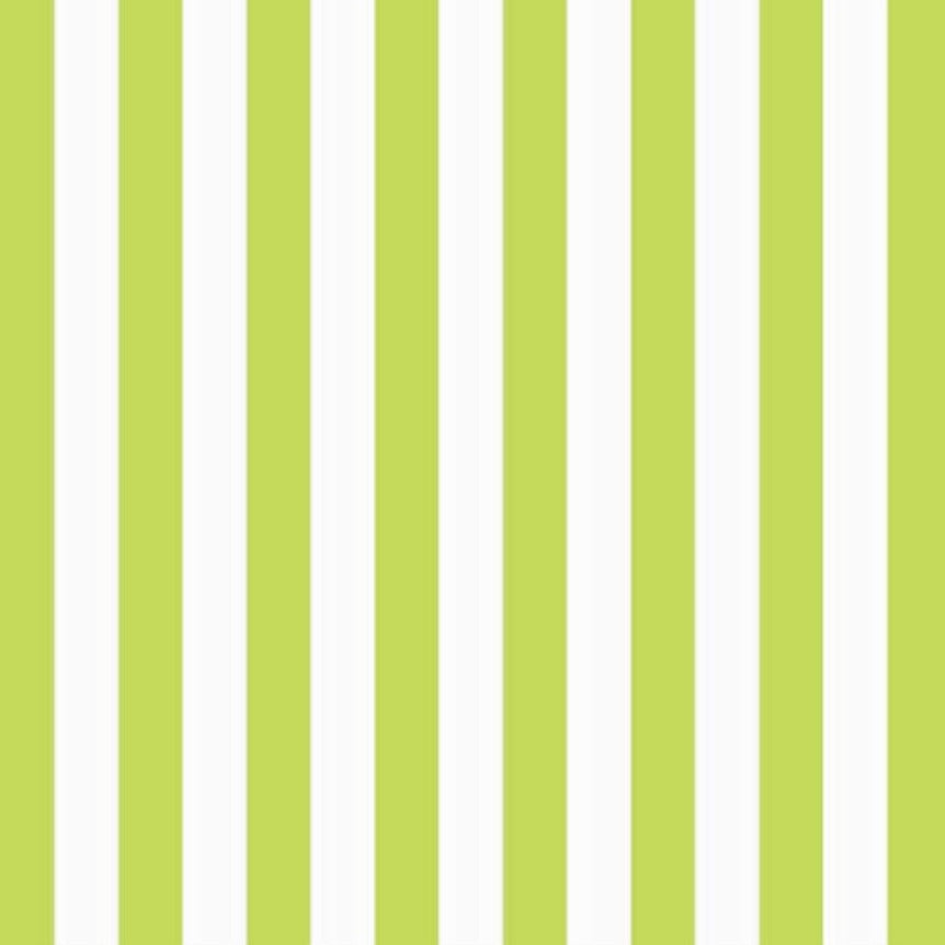 Green Striped Luncheon Napkin