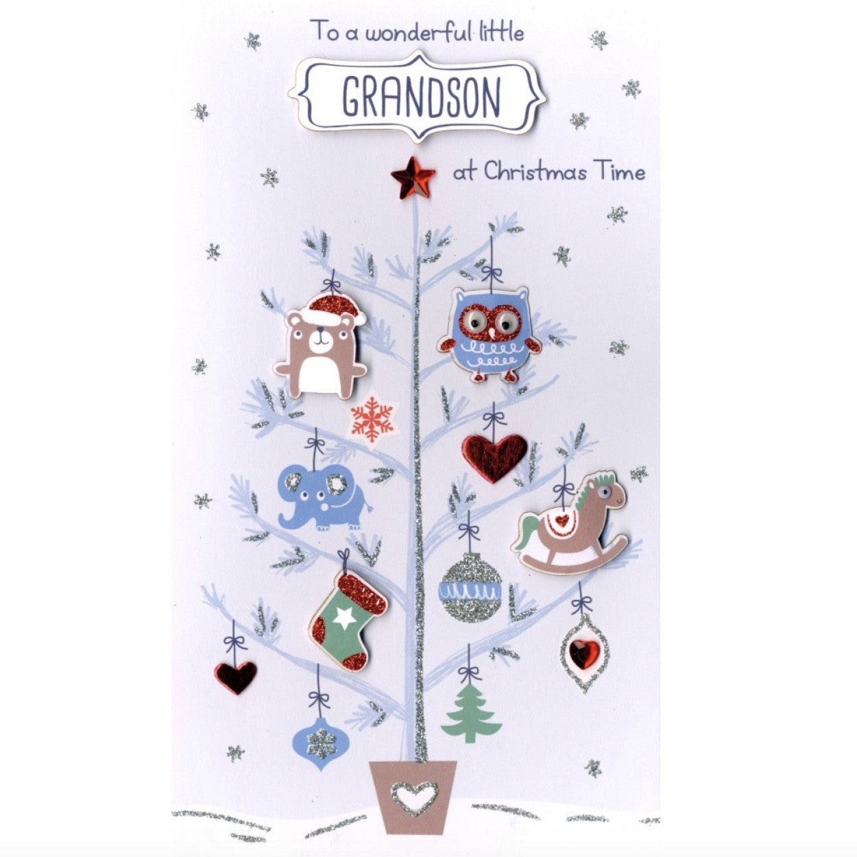 """To a Wonderful Little Grandson at Christmas Time"" Greeting Card, ID-Incognito Distribution, Putti Fine Furnishings"