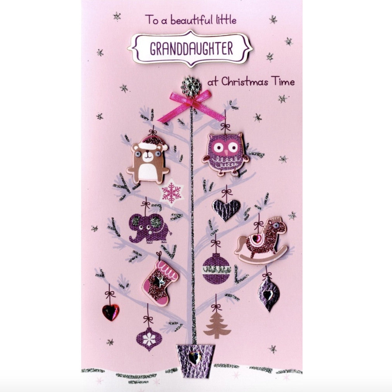 """To a Beautiful Little Granddaughter at Christmas Time"" Greeting Card, ID-Incognito Distribution, Putti Fine Furnishings"
